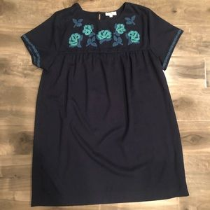 Umgee embroidered baby doll top/short dress